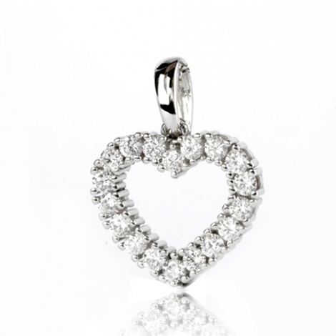 Pendentif diamant Or Blanc 0.75 ct  Elodie - 232037-1.75
