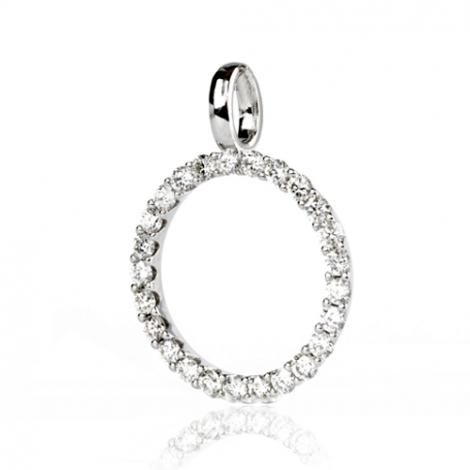 Pendentif diamant Or Blanc 1 ct  Luna - 232238-PE