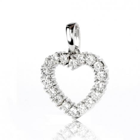 Pendentif diamant Or Blanc 1 ct  Narah - 232038-P