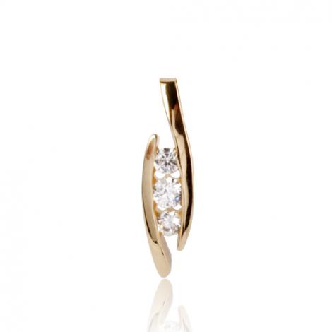 Pendentif diamant Or Jaune 0.2 ct  Elisa - 7PT0420D