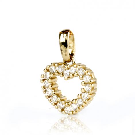 Pendentif diamant Or Jaune 0.25 ct  Audrey - 232034-J2