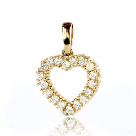 Pendentif diamant Or Jaune 0.5 ct  Maeva - 232036-PJ