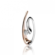 Pendentif diamant tendance 2 Ors 0.12 ct Azélie