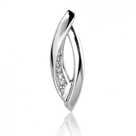 Pendentif diamant tendance Or Blanc 0.035 ct Salome