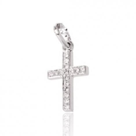 Pendentif diamant tendance Or Blanc 0.06 ct Klara