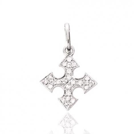 Pendentif diamant tendance Or Blanc 0.08 ct Loana