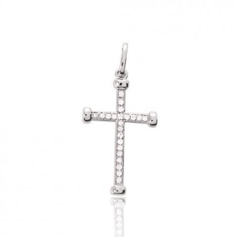 Pendentif diamant tendance Or Blanc 0.09 ct Jasmine