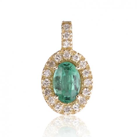 Pendentif émeraude diamant Clarisse - PE4444-E