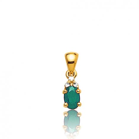 Pendentif émeraude diamant Cordélie - PE 3245-EM