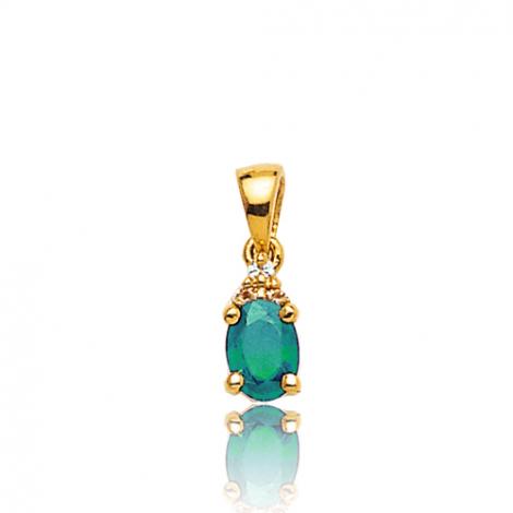 Pendentif émeraude diamant Ilaria - PE 3246-EM