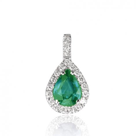 Pendentif émeraude diamant Isalie - PE4271-EM