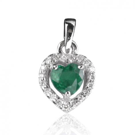 Pendentif émeraude diamant Katherine - PE4403-E