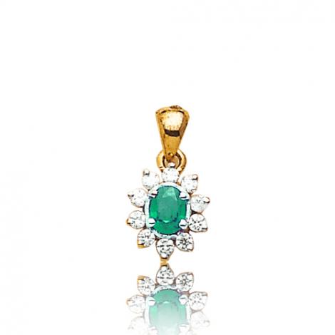 Pendentif émeraude diamant Kimmy - PE 1707-EM