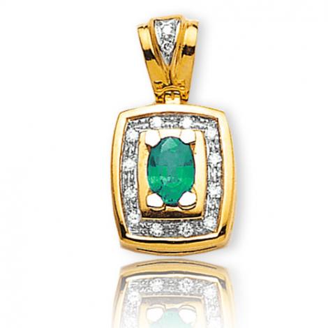 Pendentif émeraude diamant Kyana - PE 2066-EM