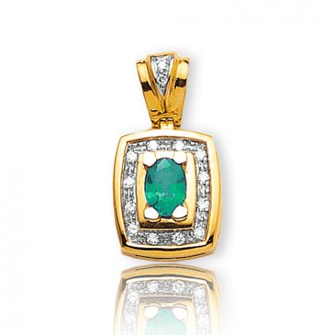 Pendentif émeraude diamant Maryane - PE 2065-EM