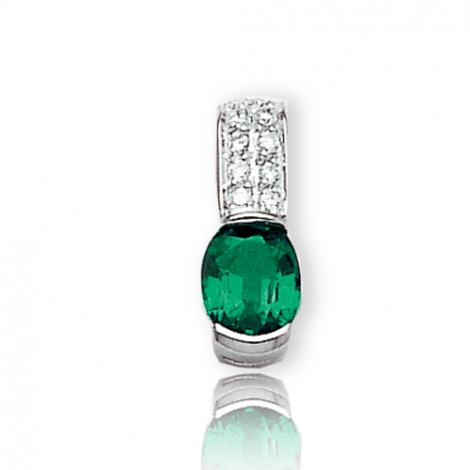 Pendentif émeraude diamant Maryse - PE3194-E