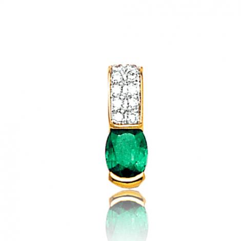 Pendentif émeraude diamant Paula - PE3195-E