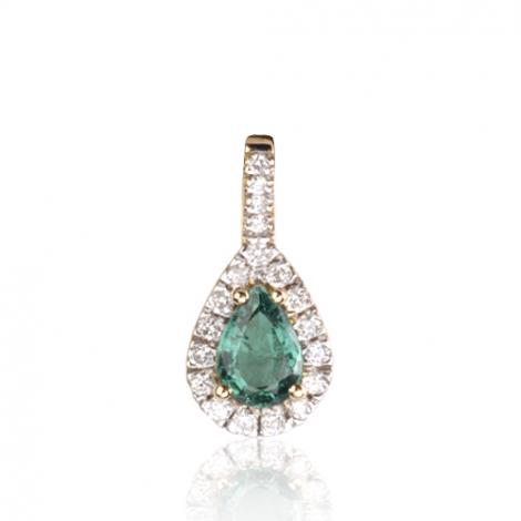 Pendentif émeraude diamant Sarah - PE4270-EM