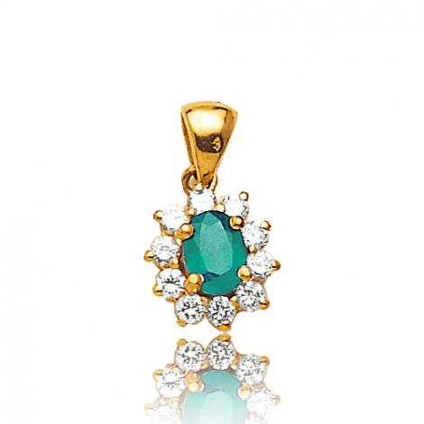 Pendentif émeraude diamant Théia - PE 1866-EM