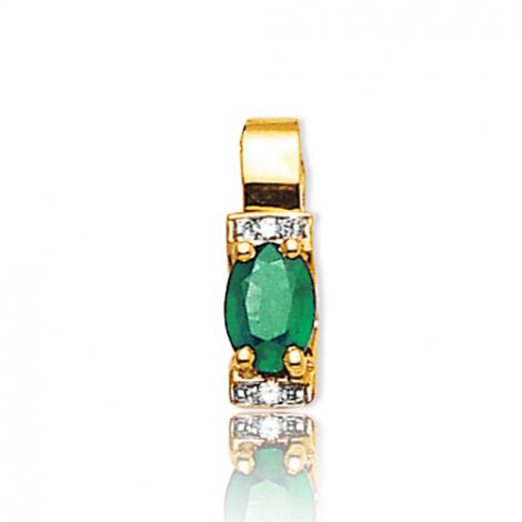 Pendentif émeraude diamant Valentina - PE3305-EM