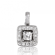 Pendentif Or Blanc diamant  0.4 ct Exquise