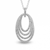 Pendentif Or Blanc diamant  0.74 ct Félicia