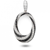 Pendentif Or Blanc diamant  0.77 ct Alys