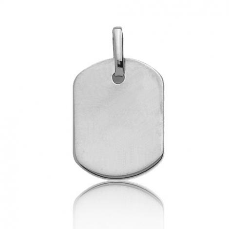 Pendentif or blanc rectangulaire Or Blanc Elodie - 661077