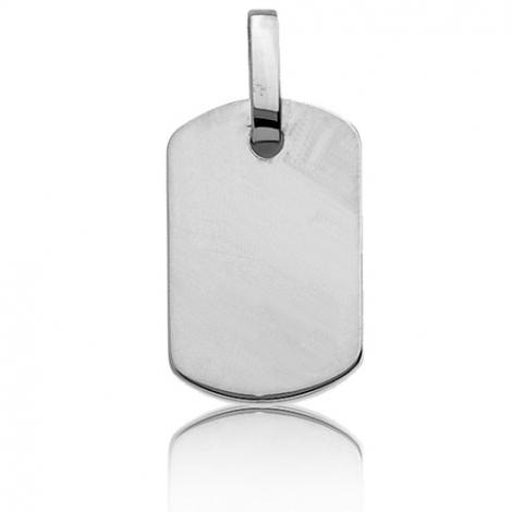 Pendentif or blanc rectangulaire Or Blanc Marina - T2G