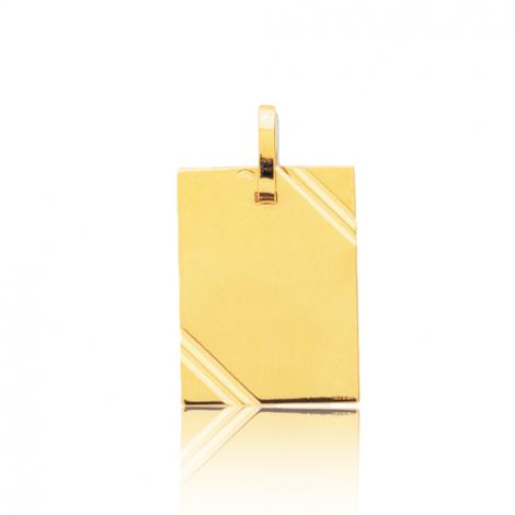 Pendentif or jaune avec ciselures
