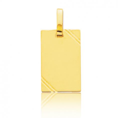 Pendentif or jaune avec ciselures Or Jaune Anissa - R2.2