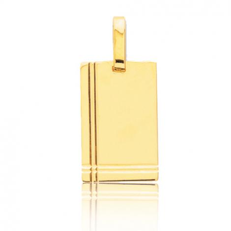 Pendentif or jaune avec ciselures Or Jaune Barbara - R2.1