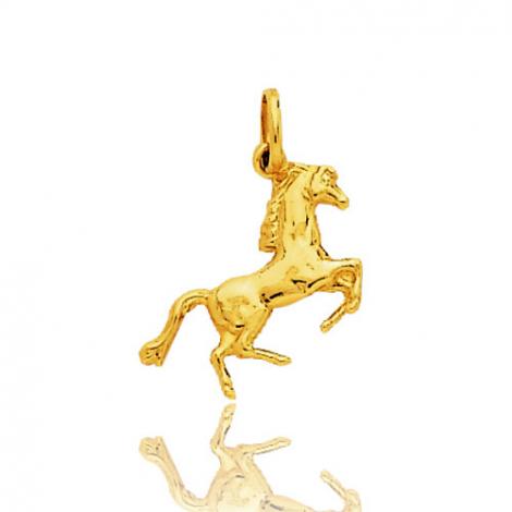 Pendentif or jaune cheval Or Jaune Dahlia - 9K2716