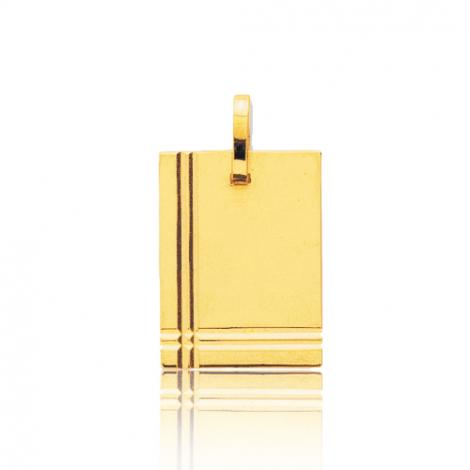 Pendentif or jaune ciselé