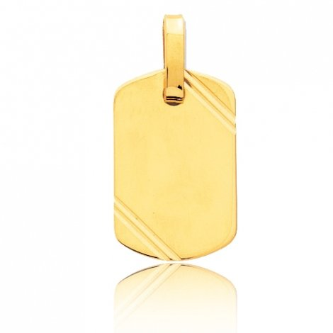 Pendentif or jaune ciselé Or Jaune Julianne - T2.2