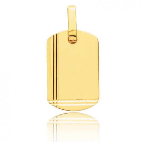 Pendentif or jaune ciselé Or Jaune Lyra - T2.1