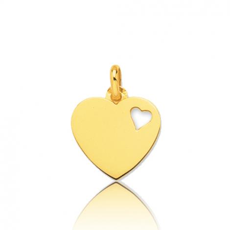 Pendentif or jaune coeur
