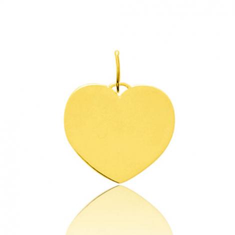 Pendentif or jaune coeur arrondi