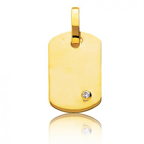 Pendentif or jaune et diamant Or Jaune Aurélia - T2B