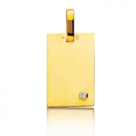 Pendentif or jaune et diamant Or Jaune Solène - R2B