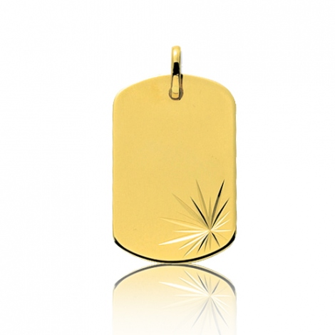 Pendentif or jaune motif fantaisie