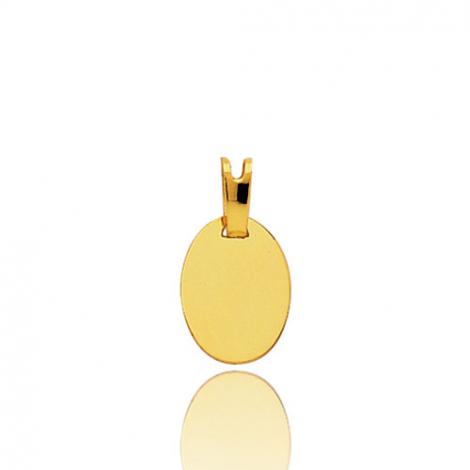 Pendentif or jaune ovale