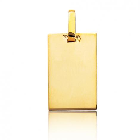 Pendentif or jaune plané épais