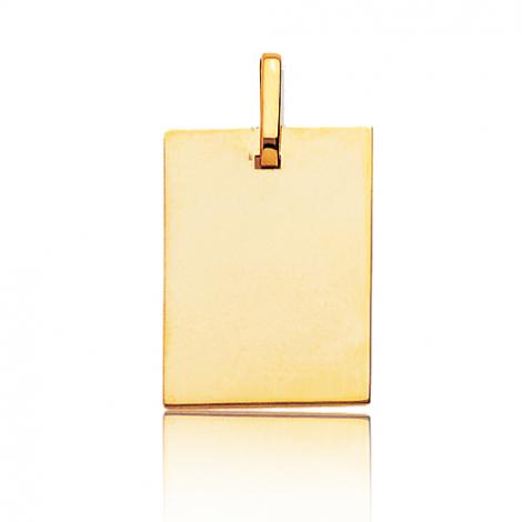 Pendentif or jaune plané épais Or Jaune Attachement - R6
