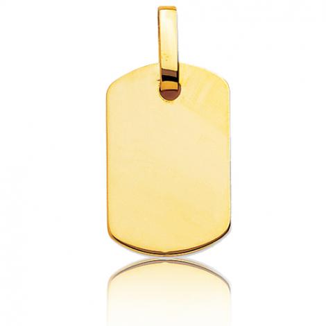 Pendentif or jaune plané épais Or Jaune Diana - T5