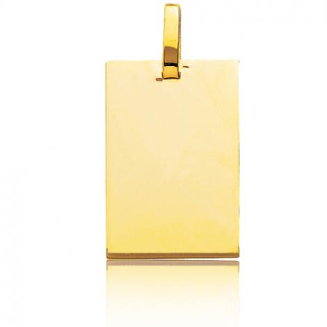 Pendentif or jaune rectangulaire