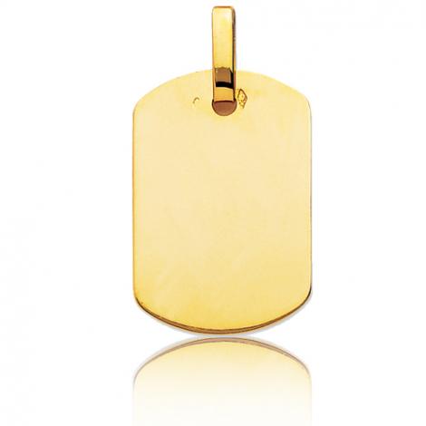 Pendentif or jaune rectangulaire Or Jaune Lizzy - T1