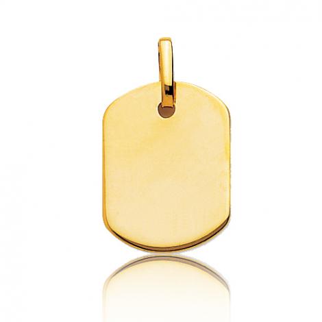 Pendentif or jaune rectangulaire Or Jaune Tamara - T6