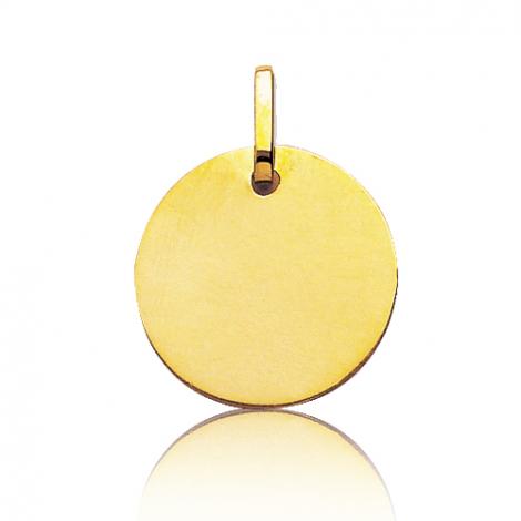 Pendentif or jaune rond