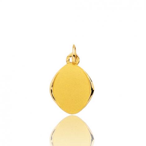 Pendentif ovale or jaune  Or Jaune Agnessa - 33615